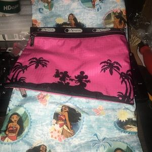 3 Disney Moana Mickey Paradise cosmetic lunch bag